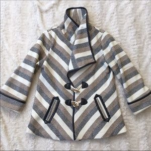 Jolt Sz Xs gorgeous warm striped coat